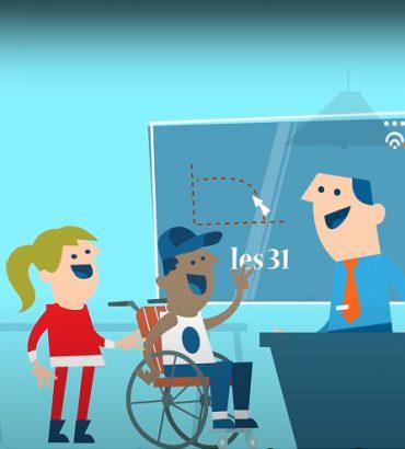 still uit de animatie over inclusief onderwijs
